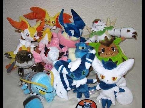 Japan Pokemon Center Delphox Chesnaught Braixen Meowstic Tyrunt More Plush Toys