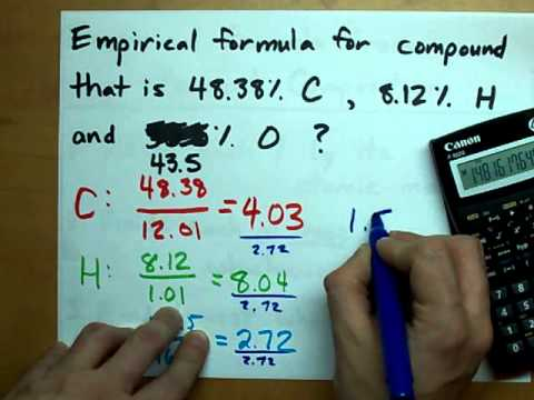 Find the empirical formula given percents youtube find the empirical formula given percents ccuart Images