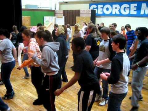 Mamma Maria Line Dance at Perry High School.wmv