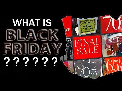 WHAT IS BLACK FRIDAY? Why do we call it Black Friday? Learning English with Mr Duncan