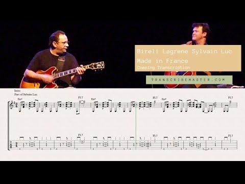 Made in France - Bireli lagrene , Sylvain Luc ( accompaniment transcription )