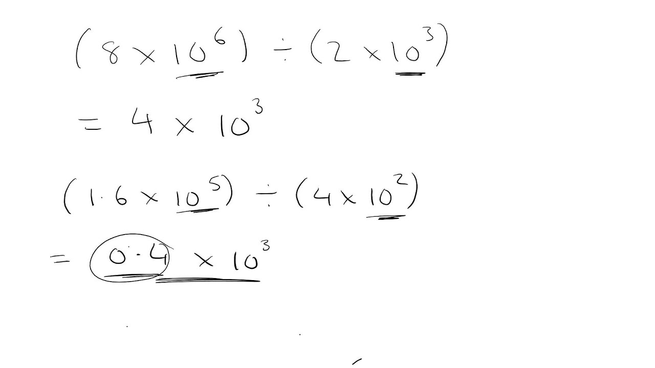 Calculations with standard form division youtube calculations with standard form division falaconquin
