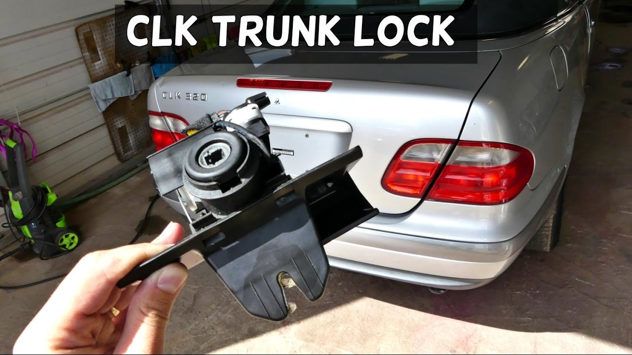 Mercedes w208 clk trunk lock removal replacement clk320 for How to open the trunk of a mercedes benz e320