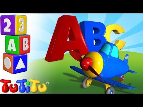 aprender-el-alfabeto-en-inglés- -avião- -tutitu-pré-escolar
