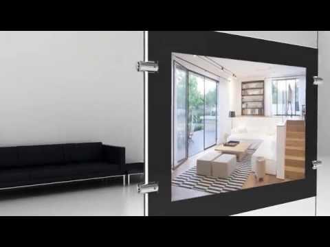porte affiche led ch ssis noir youtube. Black Bedroom Furniture Sets. Home Design Ideas