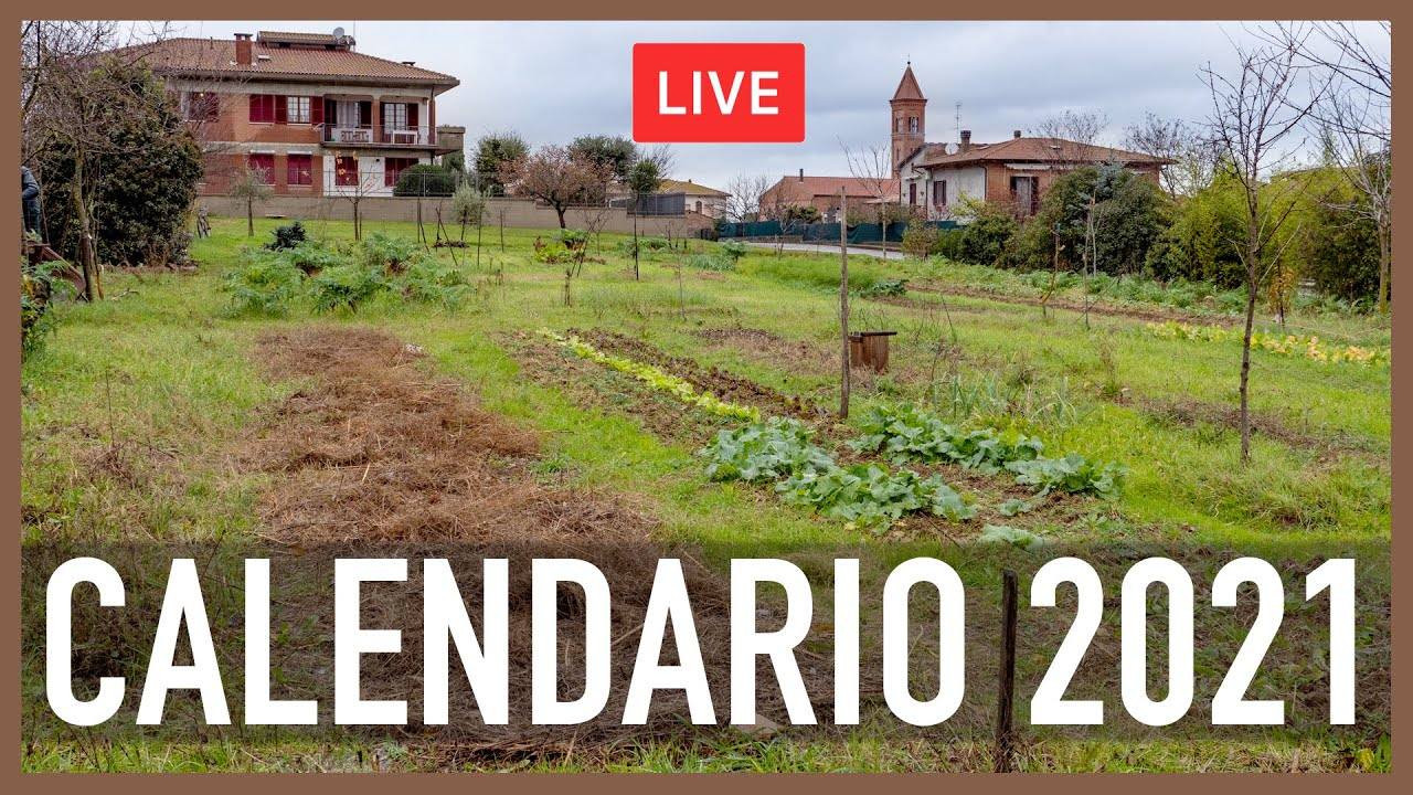CALENDARIO PER L'ORTO 2021 (GRATIS). CON MATTEO CEREDA DI ORTO DA