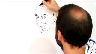 Como Desenhar o Coringa - Desenhando a Cabeça / How To Draw The JOKER - Drawing The Head