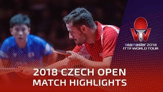 Tomokazu Harimoto vs Marcos Freitas | 2018 Czech Open Highlights (1/2)