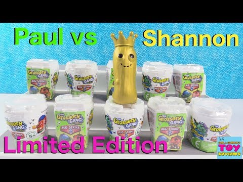 Paul vs Shannon Limited Edition Grossery Gang Challenge Edition Toy Review | PSToyReviews