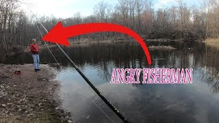 Angry Fisherman tells me to leave after catching bass?!?!?!?