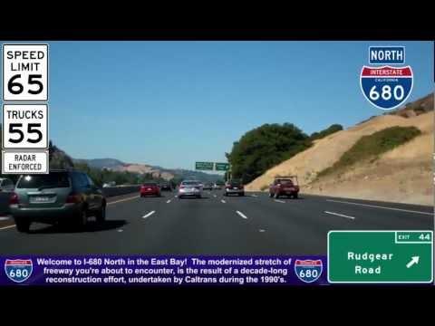 I-680 North (CA), Driving Thru Walnut Creek & Concord, Mile 43 To Mile 53