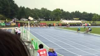 2015年度全中通信兵庫県大会 2年女子100m準決勝2組目