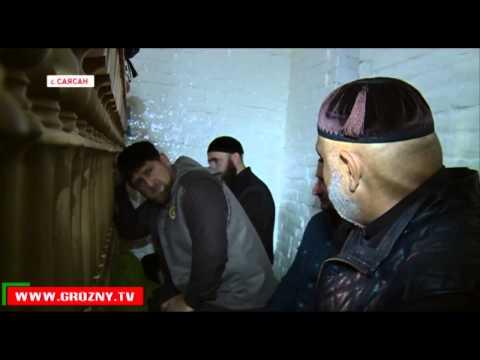Глава Чечни посетил зиярат шейха Ташу Хаджи Саясановского