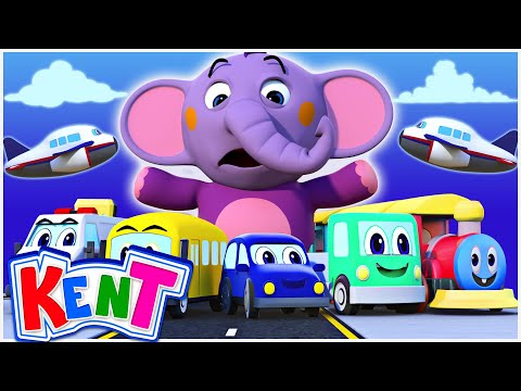 The Vehicle Song + More Nursery Rhymes and Kids Songs - Kent The Elephant