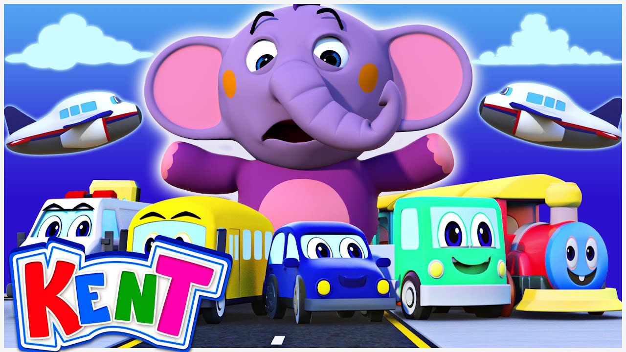 Learn Vehicles with the VEHICLE SONG! 3D Nursery Rhymes and Baby Songs by Kent the Elephant