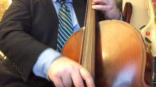 1954 Kay Cello tuned in fourths  Pizzicato Blues in F Medium