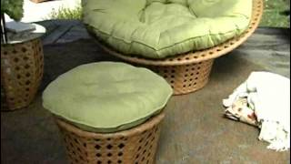 Jubilee All Weather Wicker Outdoor Papasan Chair Set - Product Review Video