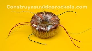 Calculation and homemade construction of a Toroidal Transformer