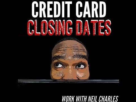 Credit Card Closing Date