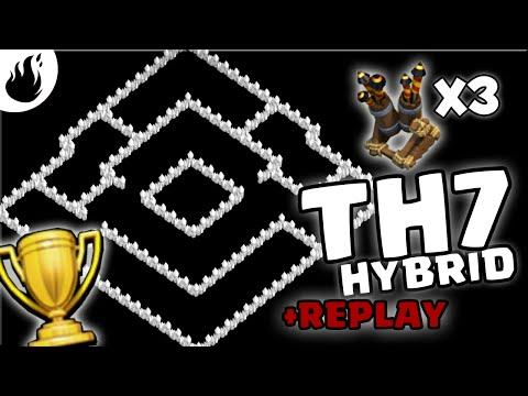 Clash of Clans | Town Hall 7 Hybrid Base  2016 | 3 AIR DEFENCES | TH7 TH 7