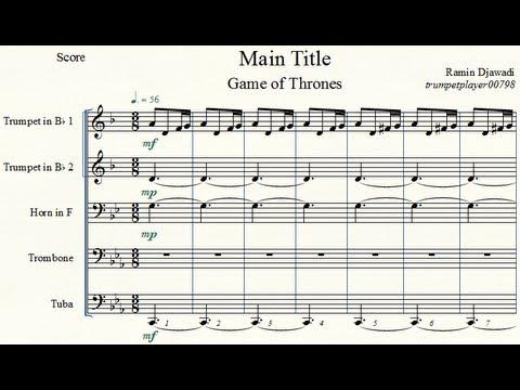 Game of Thrones Main Title - Brass Quintet