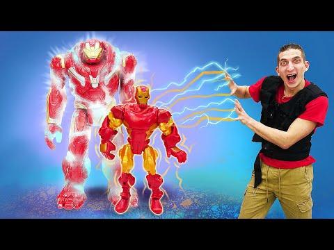 Игры для мальчиков - План Железного Человека! Самый сильный супергерой! - Смешное видео онлайн.