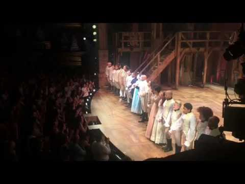 Hamilton Cast Takes First Broadway Bows