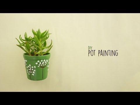 DIY Pot Painting |  Pot Decoration