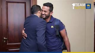 Arrival of the Victorious Test Squad - Sri Lanka Test Squad from South Africa