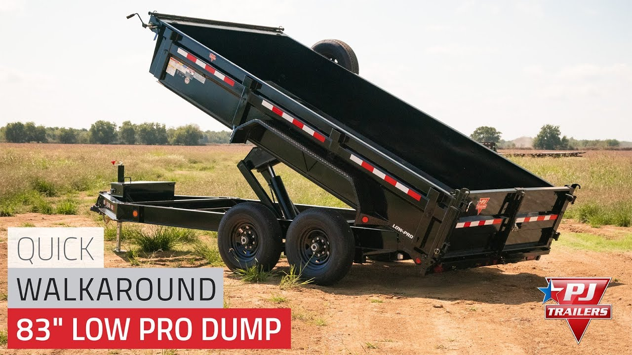 hight resolution of 2020 pj 7x16 dl gooseneck low pro dump trailer superior trailers nc and va flatbed and cargo trailers for sale dump trailers for sale in nc and va