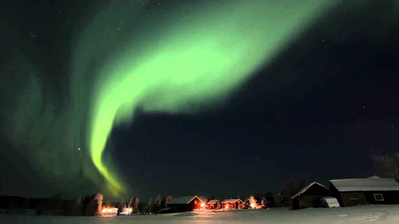 fantastic nordic light in swedish lapland youtube. Black Bedroom Furniture Sets. Home Design Ideas