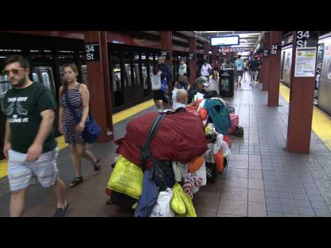 Mess in New York Subway Station Herald Square 34 Sttreet