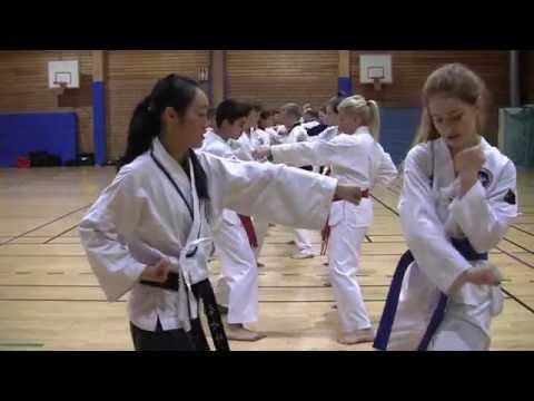 Part2: Master Anna Kim, 6 Dan Taekwondo. Training session Part 2 of 2