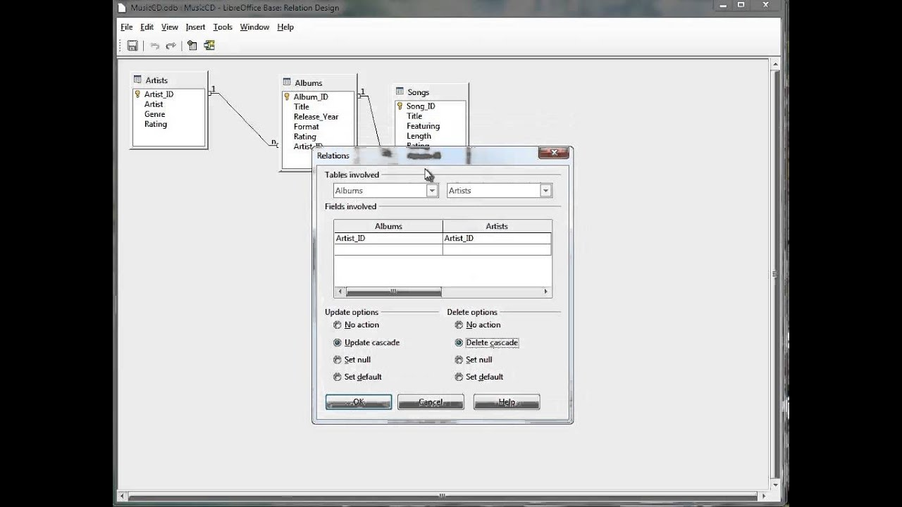 Using libre office base to create a relationship between fields in using libre office base to create a relationship between fields in tables ccuart Gallery