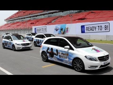 Mercedes B Class Track Test Drive Review At BIC Formula 1 Track