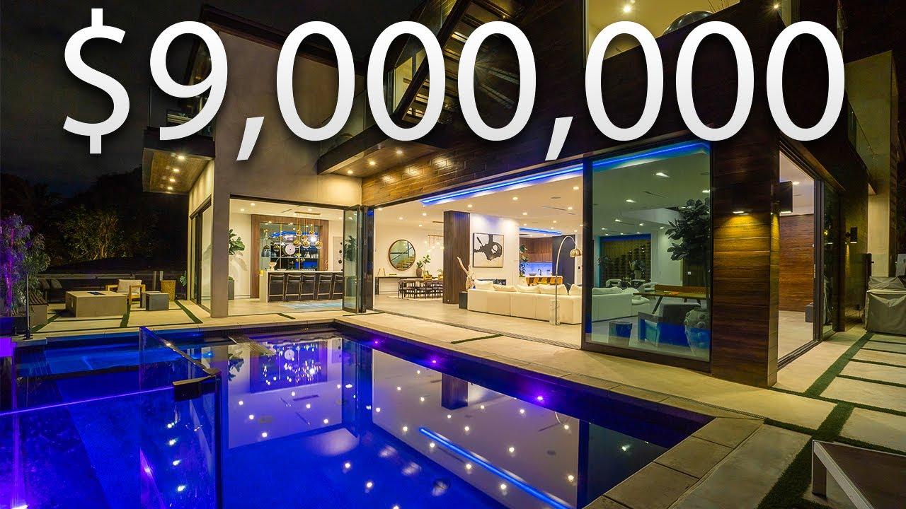 Inside A $9,000,000 MODERN TROPICAL Bel Air MEGA MANSION | Mansion Tour