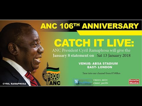 WATCH IT LIVE: ANC President Cyril Ramaphosa delivers January 8th statement