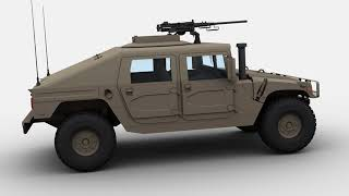 3D Model of Military Hummer Review