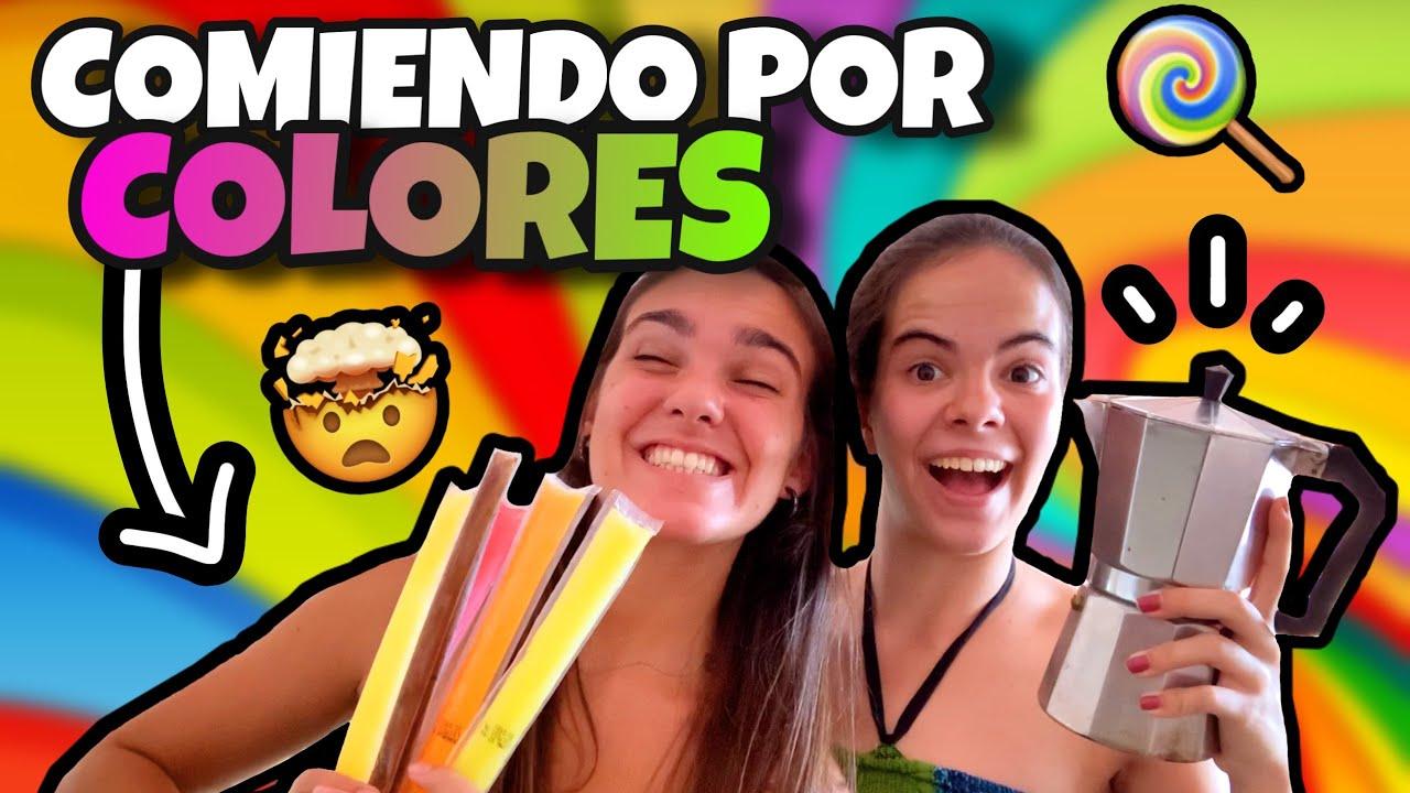 24H COMIENDO por COLORES!! 🌈 | @luciolsa