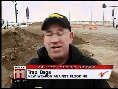 New Flood control barrier, emergency flood bag