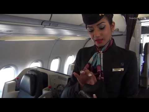 "Qatar Airways ""Premium One"" all-business A319 video tour"