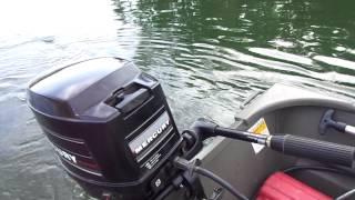 20 HP Mercury on 1436 aluminum Jon boat