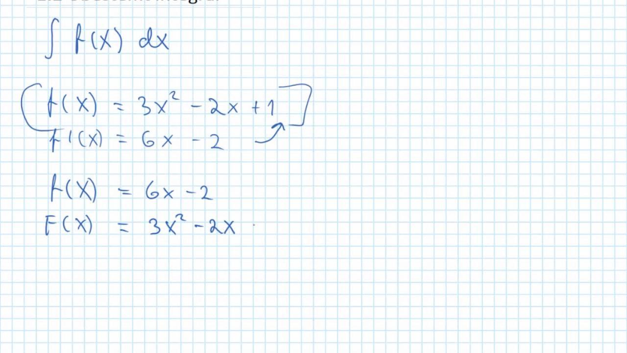 1 2 Ubestemt integral teori