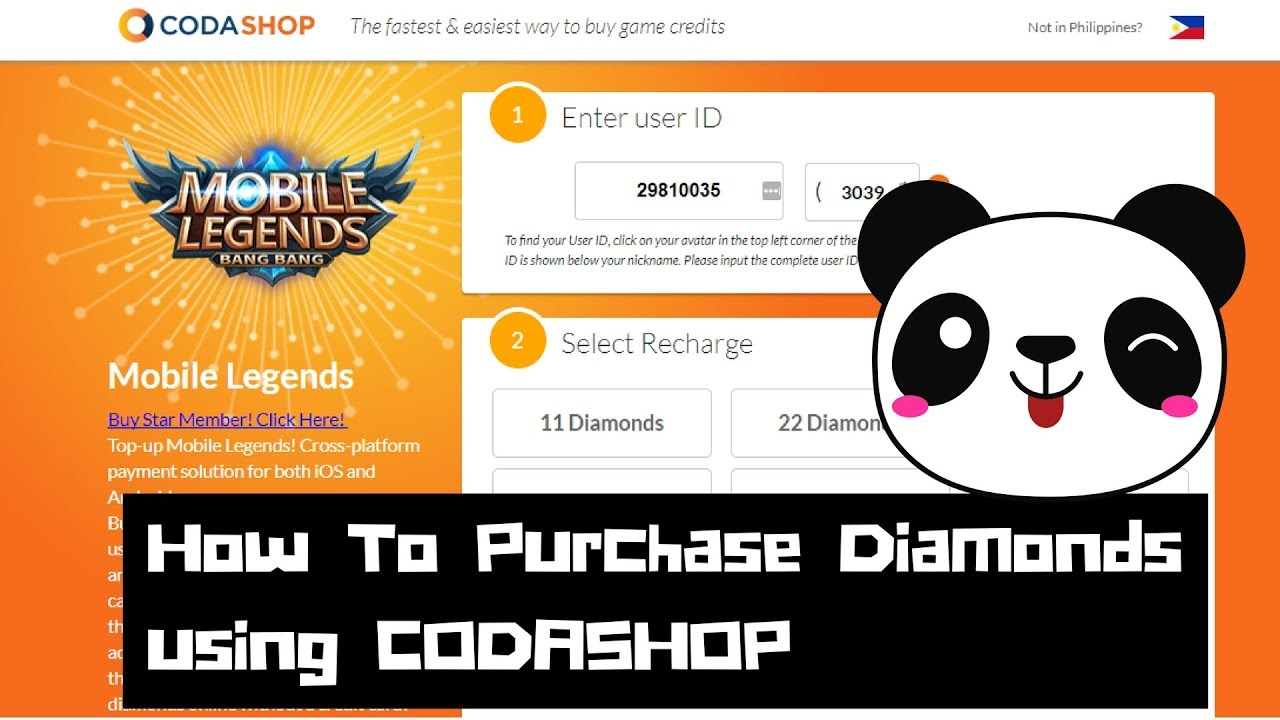How to use codashop to purchase diamonds starlight membership and how to use codashop to purchase diamonds starlight membership and others for mobile legends stopboris Images