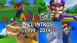 History of Mario Golf - All INTROS ( 1999 - 2014 ) - N64,GBC, Gamecube, GBA, 3DS [ HD ]