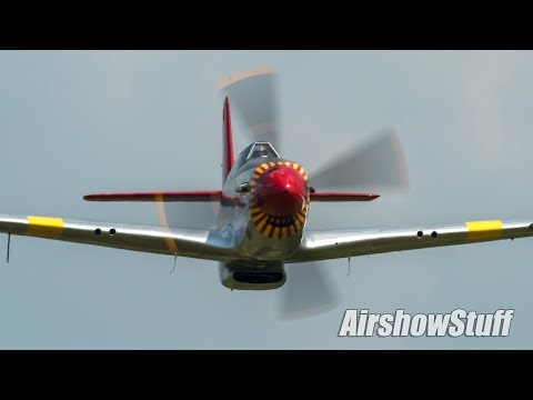 P-51C Mustang LOW Flybys and Aerobatics - Terre Haute Airshow 2018