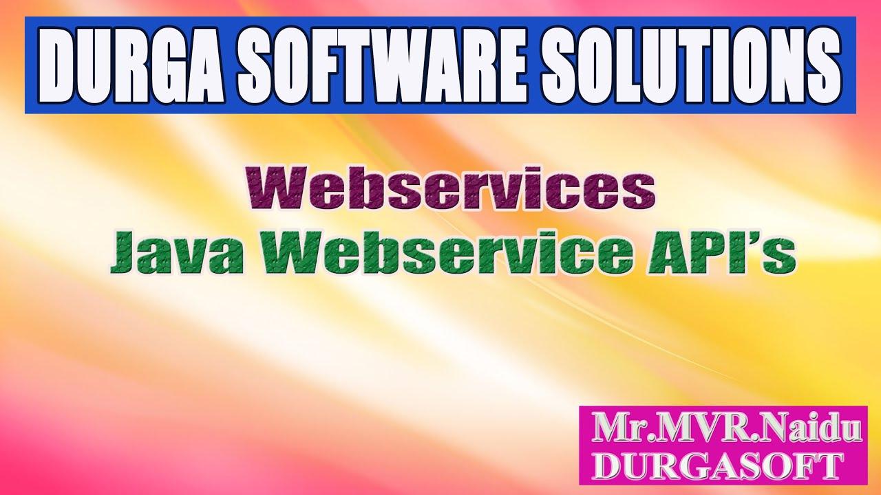 Webservices java webservice apis youtube baditri Images