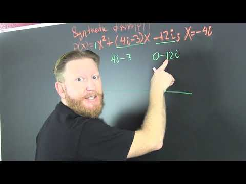 Synthetic Division With Imaginary Numbers