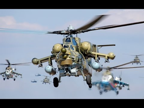 AWESOME Rus Mi-24 Mi-28 & Mi-8 Military Helicopters training exercise