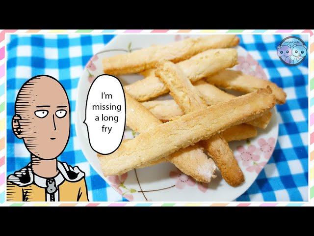 ONE PUNCH MAN French Fries (Lemon Sugar Cookies) 🍋 Anime Dessert Ideas